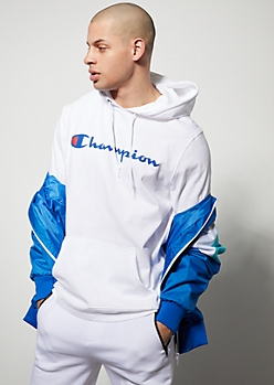 Champion White Lightweight Hoodie