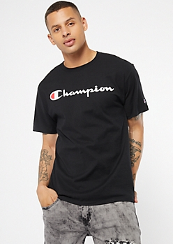 Champion Black Essential Graphic Tee