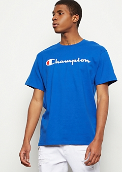 Champion Royal Blue Logo Graphic Tee