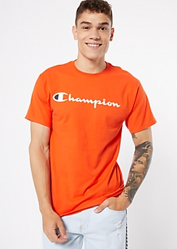 Champion Orange Essential Graphic Tee
