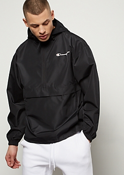 Champion Black Bungee Pocket Windbreaker