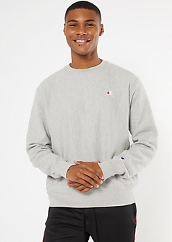 Champion Heather Gray Embroidered Sweatshirt
