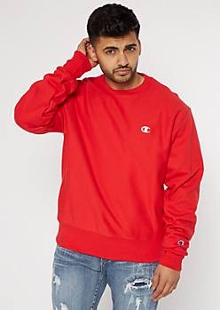 Champion Red Embroidered Sweatshirt