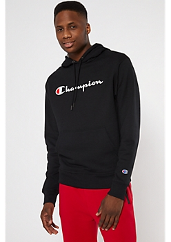 Champion Black Fleece Hoodie