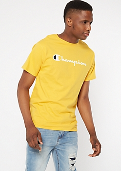 Champion Yellow Short Sleeve Graphic Tee