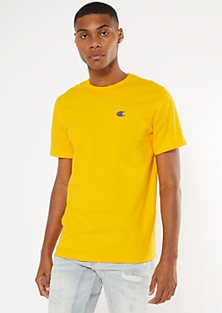 Champion Yellow Embroidered Tee