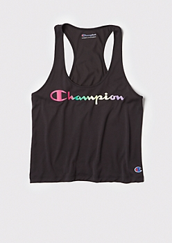 Champion Black Racerback Tank Top