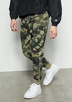 Champion Camo Print Embroidered Joggers