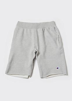Champion Gray Raw Cut Sweat Shorts