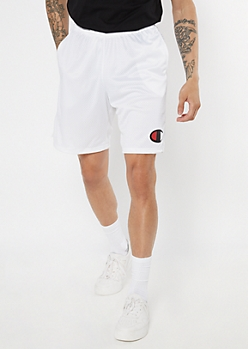 Champion White Mesh Active Shorts