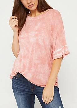Pink Tie Dye Oversize Tee