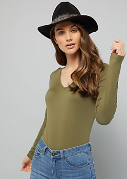 Olive Long Sleeve Super Soft Bodysuit