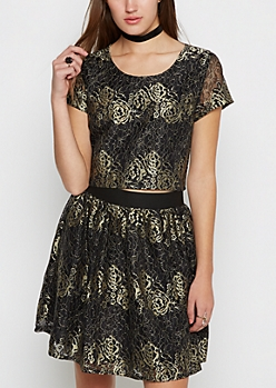 Image result for gold rose lace sadie robertson