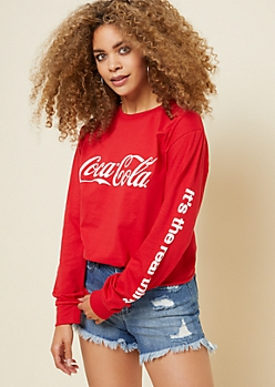 Red Coca Cola Real Thing Skimmer Tee