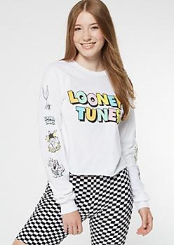 White Rainbow Looney Tunes Graphic Tee