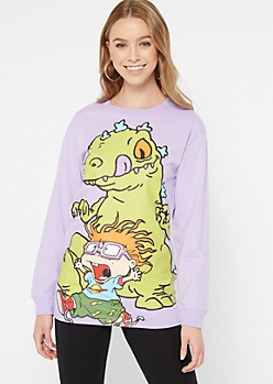 Purple Reptar Rugrats Graphic Tee