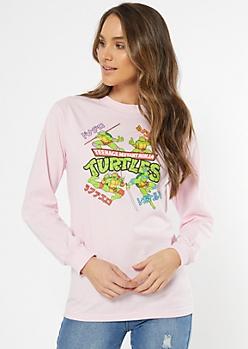 Pink Teenage Mutant Ninja Turtles Graphic Tee
