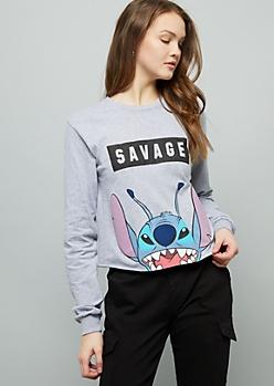 Gray Stitch Savage Graphic Tee