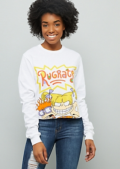 White Rugrats Long Sleeve Graphic Tee