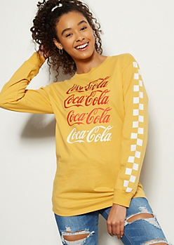 Mustard Repeat Coke Oversized Graphic Tee