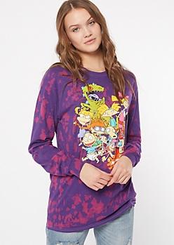 Purple Tie Dye Nickelodeon Graphic Tee
