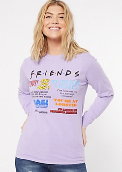 Purple Friends Quote Graphic Tee