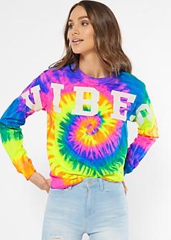 Neon Tie Dye Vibes Graphic Tee
