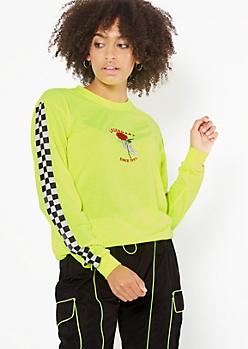 Neon Yellow Legendary Long Sleeve Graphic Tee