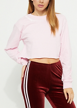 Pink Not Yours Crop Top