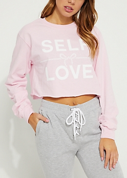 Self Love Pink Crop Top
