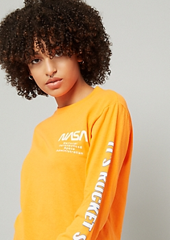 Orange NASA Rocket Science Skimmer Tee