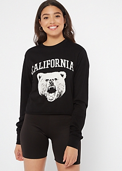 Black California Bear Graphic Tee