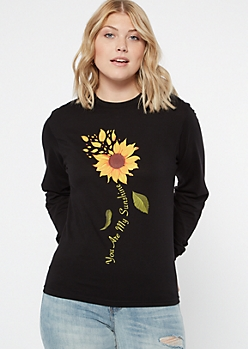 Black You Are My Sunshine Graphic Tee