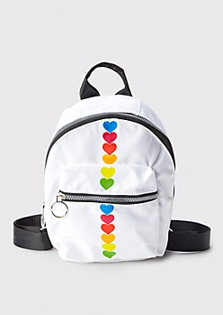 Rainbow Heart Mini Backpack