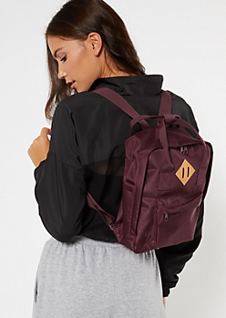 Burgundy Mini Backpack