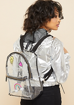 Clear Sticker Patch Stadium Backpack