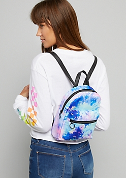 Neon Tie Dye Mini Backpack