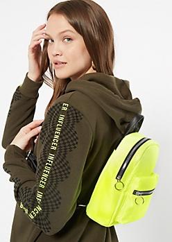 Neon Green Mini Backpack