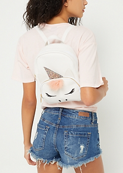 White Unicorn Mini Backpack