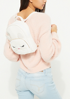 White Bunny Mini Backpack