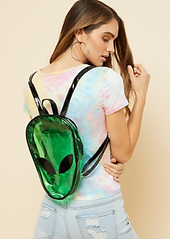 Green Alien Clear Stadium Backpack