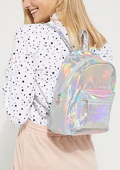 Iridescent Metallic Mini Backpack
