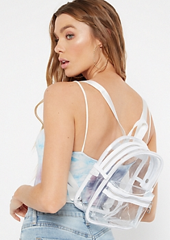 White Clear Mini Backpack