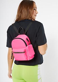 Neon Pink Mini Backpack