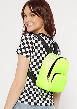 Neon Yellow Original Mini Backpack