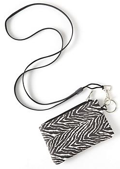 Zebra Print Lanyard