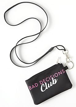 Black Bad Decisions Lanyard