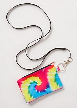 Rainbow Tie Dye Lanyard