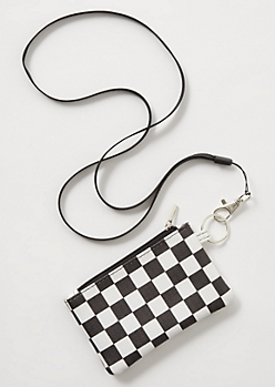 Checkered Print Lanyard