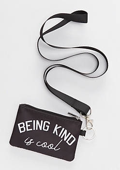 Kind Is Cool Lanyard Wallet